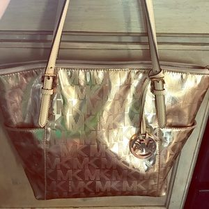 Gold Michael Kors Tote Purse